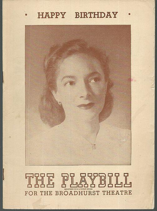 HAPPY BIRTHDAY, JULY 21, 1947, Playbill
