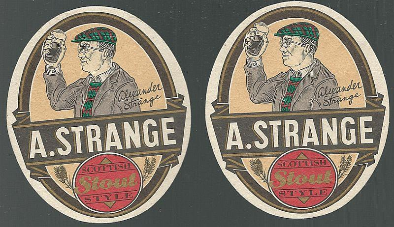 Image for SET OF TWO A. STRANGE SCOTTISH STYLE STOUT BEER MATS/COASTERS