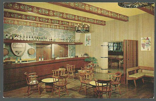INTERIOR VIEW OF TASTING ROOM OF THE ITALIAN SWISS COLONY WINERY, Postcard