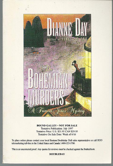 BOHEMIAN MURDERS A Fremont Jones Mystery, Day, Dianne
