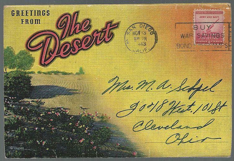 Image for SOUVENIR POSTCARD FOLDER GREETINGS FROM THE DESERT