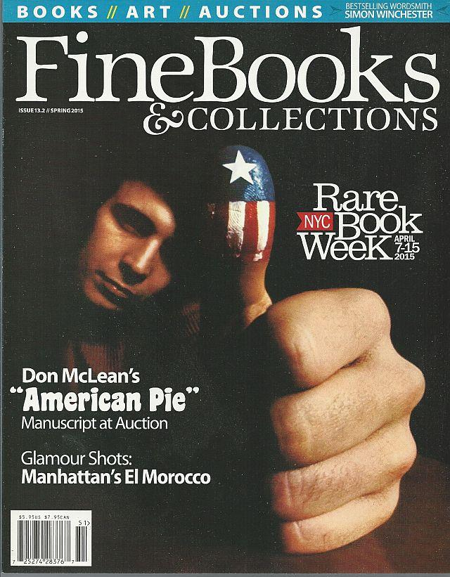 Image for FINE BOOKS AND COLLECTIONS MAGAZINE SPRING 2015