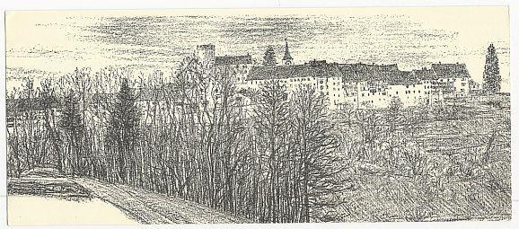 Image for OVERSIZE POSTCARD REGENSBERG GASTHOF KRONE, SWITZERLAND