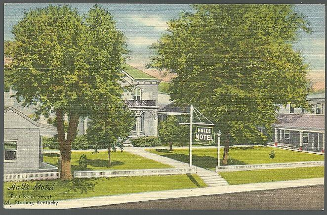 HALL'S MOTEL, MT. STERLING, KENTUCKY, Postcard