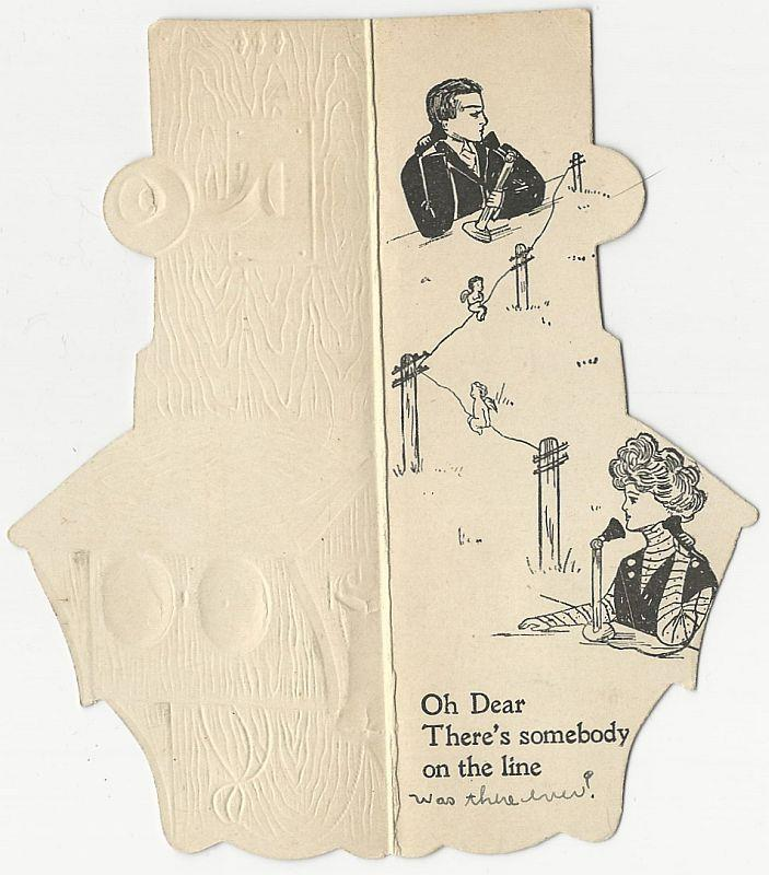 Image for VICTORIAN TELEPHONE GREETING CARD