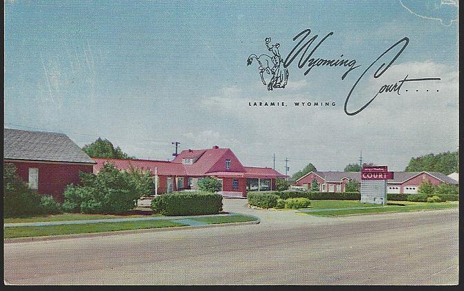 WYOMING COURT, LARAMIE, WYOMING, Postcard