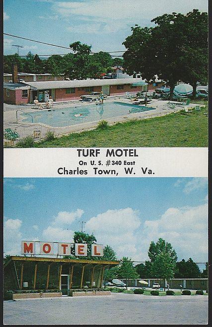 TURF MOTEL, CHARLES TOWN, WEST VIRGINIA, Postcard