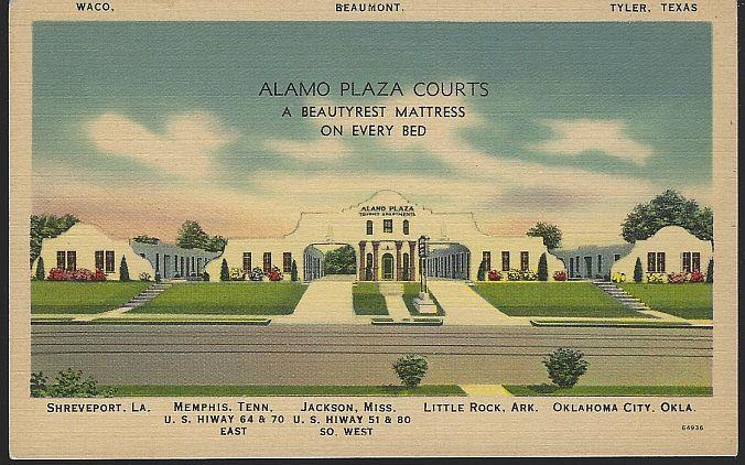 ALAMO PLAZA COURTS, Postcard