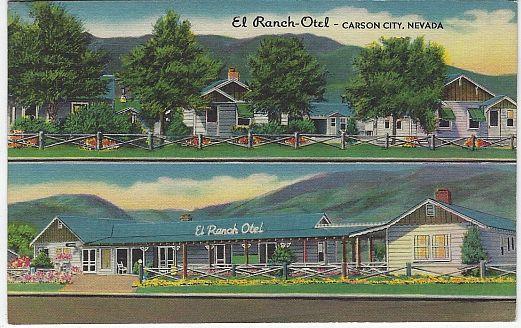 EL RANCH-OTEL, CARSON CITY, NEVADA, Postcard