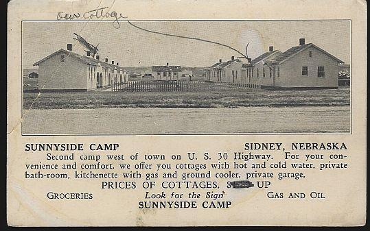 SUNNYSIDE CAMP, SIDNEY, NEBRASKA, Postcard