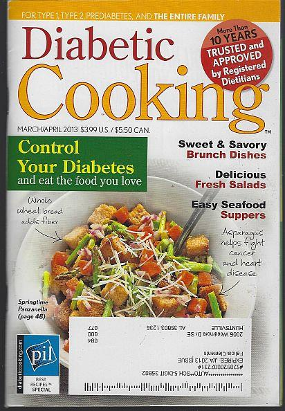 DIABETIC COOKING MAGAZINE MARCH/APRIL 2013, Favorite Brand Name Recipes