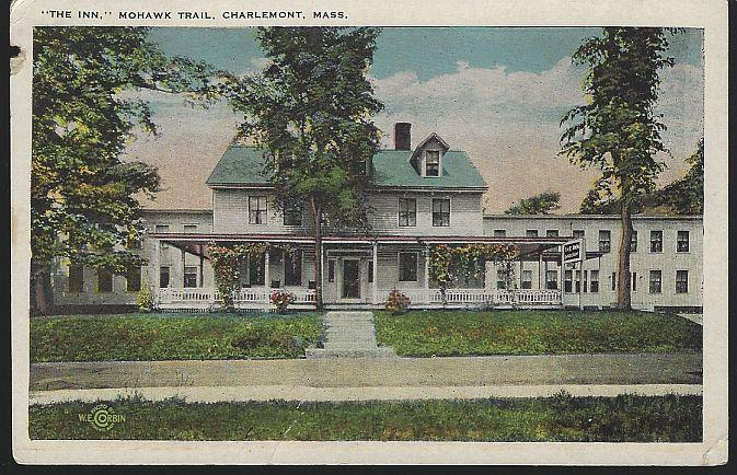 INN, MOHAWK TRAIL, CHARLEMONT, MASSACHUSETTS, Postcard