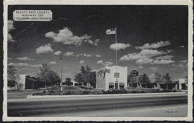 BEAUTY REST COURTS, CARLSBAD, NEW MEXICO, Postcard