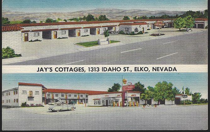 JAY'S COTTAGES ELKO, NEVADA, Postcard