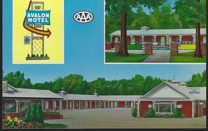AVALON MOTEL, POPLAR BLUFF, MISSOURI, Postcard