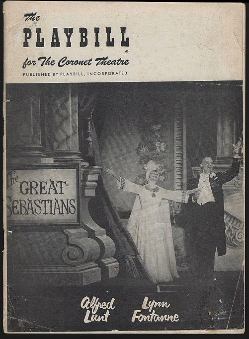 GREAT SEBASTIANS, CORONET THEATRE, MARCH 26, 1956, Playbill
