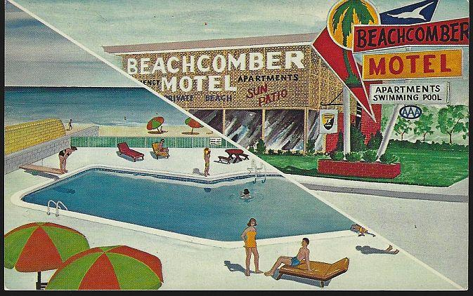 BEACHCOMBER MOTEL AND APARTMENTS, NORFOLK, VIRGINIA, Postcard