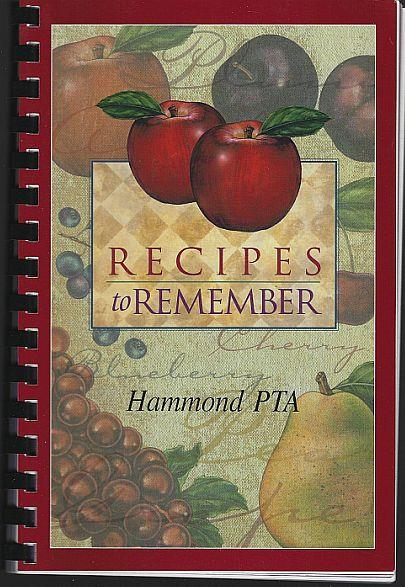Image for RECIPES TO REMEMBER HAMMOND PTA