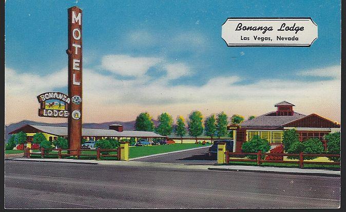 BONANZA LODGE, LAS VEGAS, NEVADA, Postcard