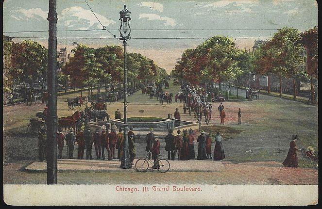 GRAND BOULEVARD, CHICAGO, ILLINOIS, Postcard