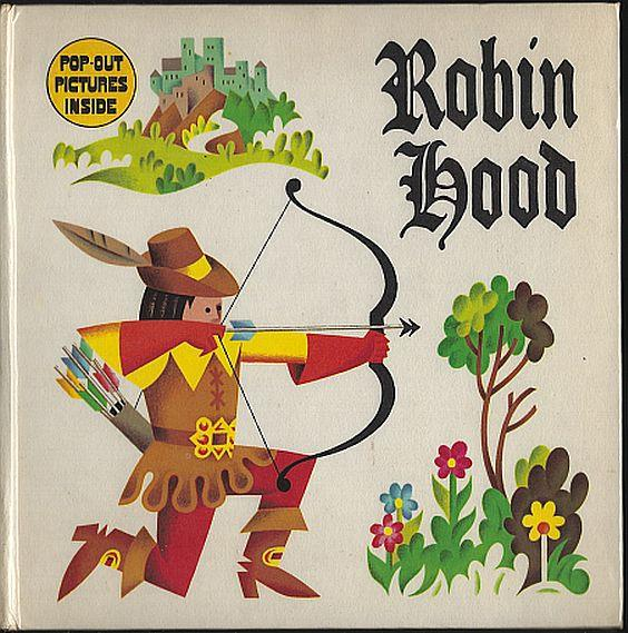 ROBIN HOOD POP-UP PICTURES, Leete-Hodge, Lomie Retold by