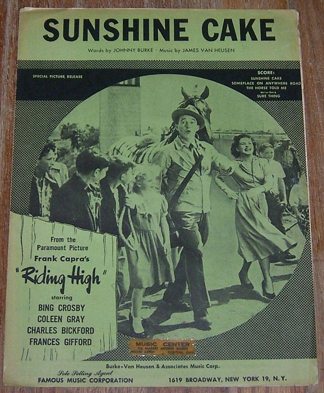 SUNSHINE CAKE, Sheet Music