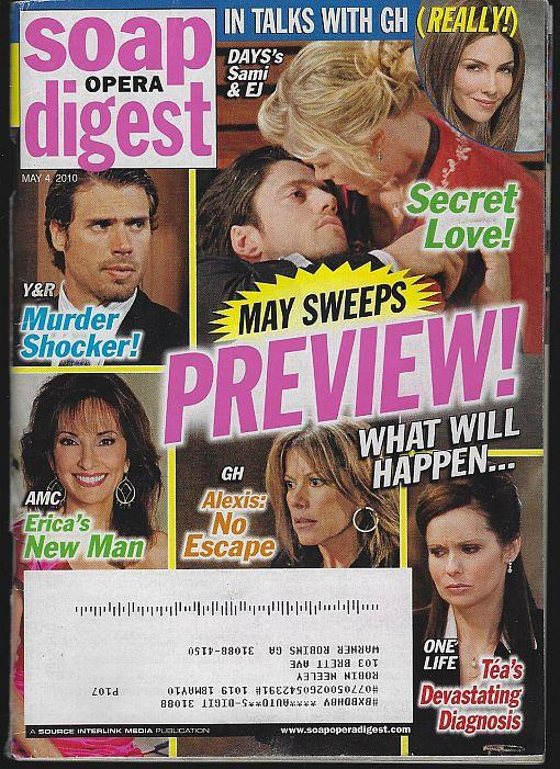 SOAP OPERA DIGEST MAY 4, 2010, Soap Opera Digest