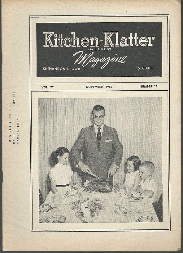 KITCHEN KLATTER MAGAZINE NOVEMBER 1958, Driftmier, Leanna Field