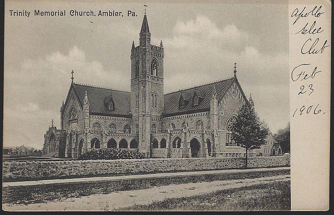 TRINITY MEMORIAL CHURCH, AMBLER, PENNSYLVANIA, Postcard
