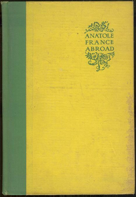 ANATOLE FRANCE ABROAD, Brousson, Jean Jacques