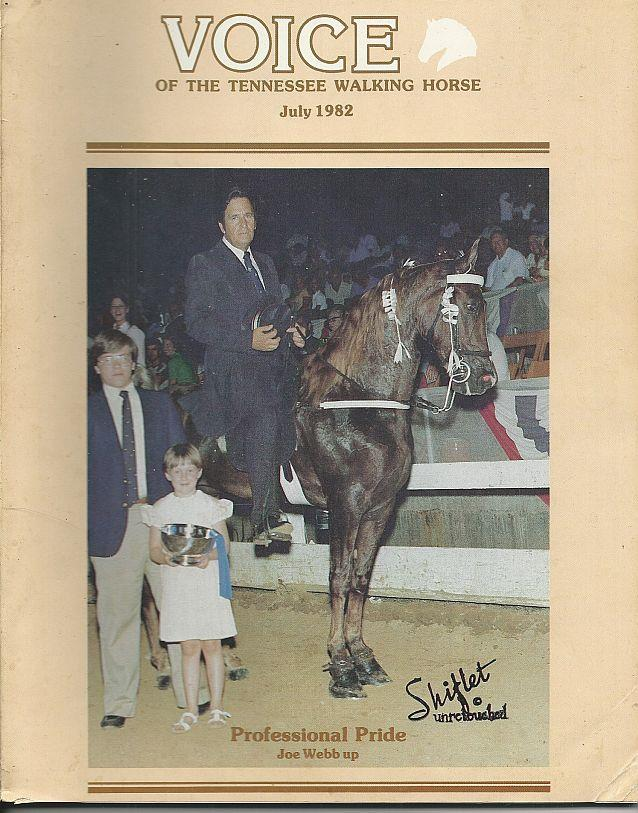 Image for VOICE OF THE TENNESSEE WALKING HORSE MAGAZINE JULY 1982