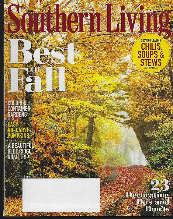 SOUTHERN LIVING MAGAZINE OCTOBER 2016, Southern Living