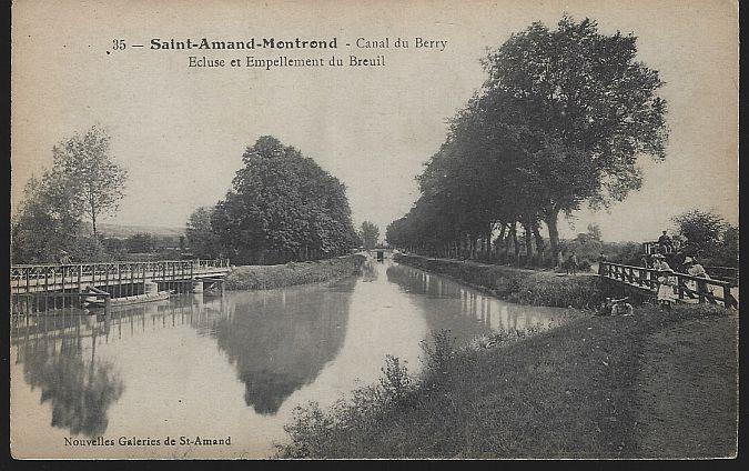 SAINT-AMAND-MONTROND-CANAL DU BERRY, FRANCE, Postcard