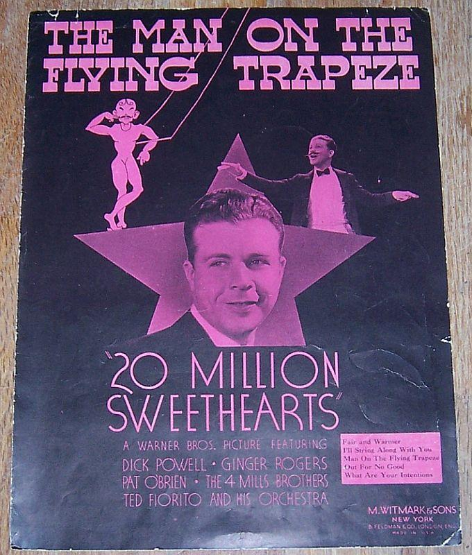 MAN ON THE FLYING TRAPEZE, Sheet Music