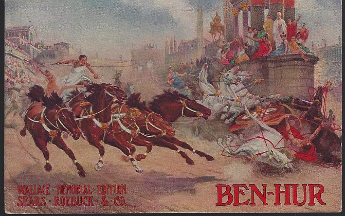 BEN HUR WALLACE MEMORIAL EDITION AVAILABLE AT SEARS ROEBUCK, Postcard