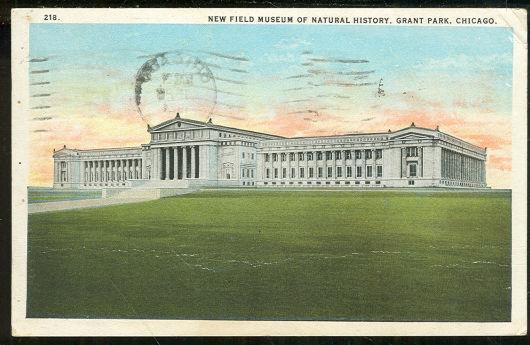 NEW FIELD MUSEUM OF NATURAL HISTORY CHICAGO, ILLINOIS, Postcard