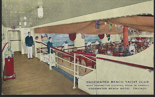 EDGEWATER BEACH YACHT CLUB, EDGEWATER BEACH HOTEL, CHICAGO, ILLINOIS, Postcard
