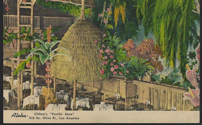 CLINTON'S PACIFIC SEAS, LOS ANGELES, CALIFORNIA, Postcard