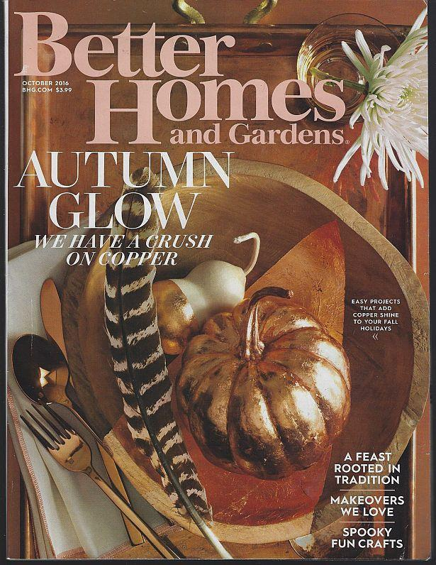 Image for BETTER HOMES AND GARDENS MAGAZINE OCTOBER 2016
