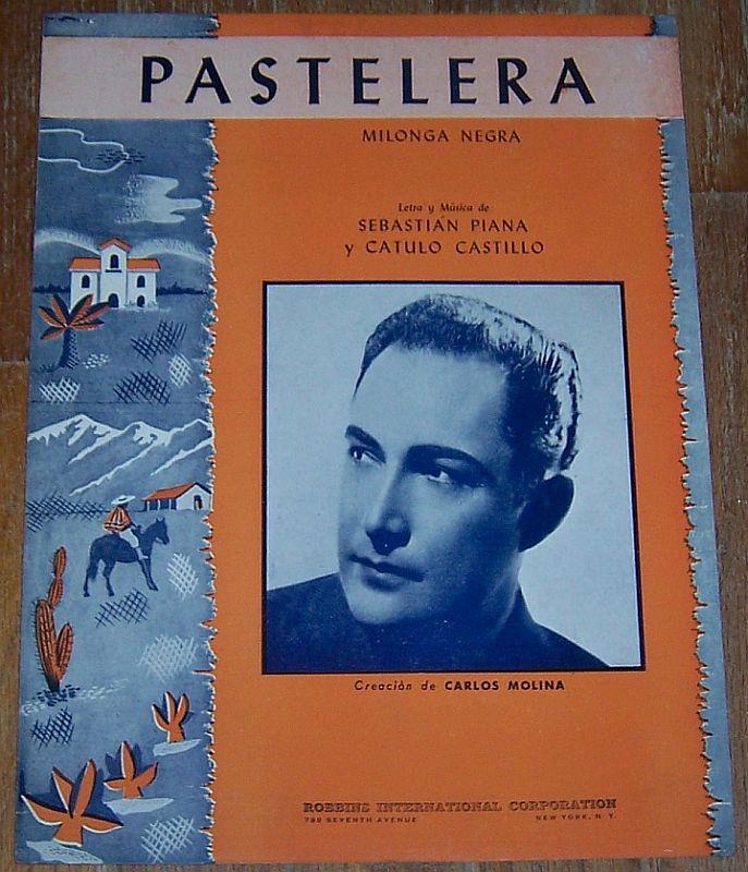 PASTELERA Milonga Negra, Sheet Music