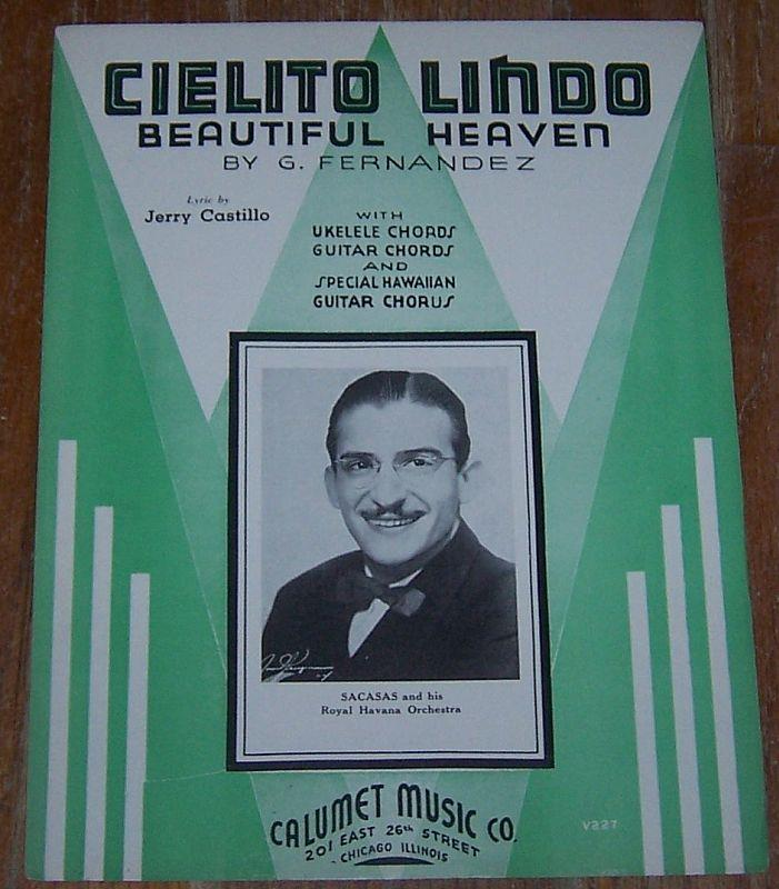 CIELITO LINDO Beautiful Heaven, Sheet Music