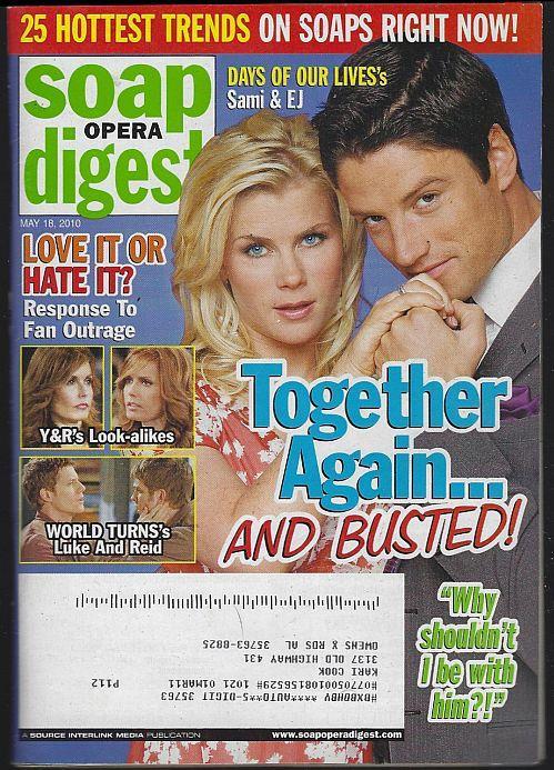 SOAP OPERA DIGEST MAY 18, 2010, Soap Opera Digest