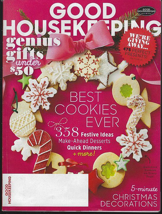 GOOD HOUSEKEEPING MAGAZINE DECEMBER 2016, Good Housekeeping