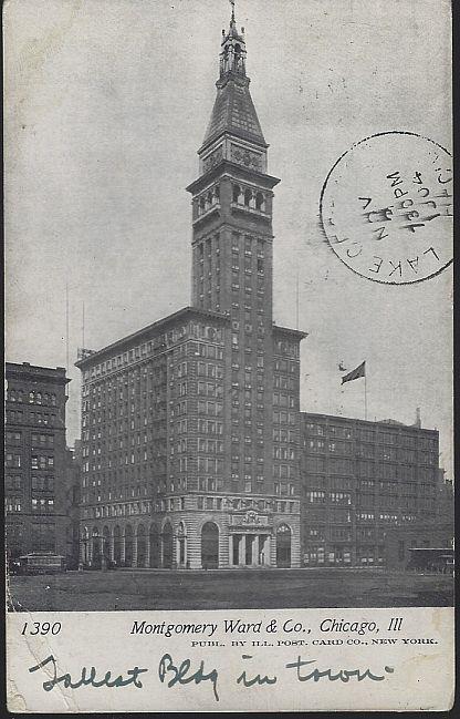 MONTGOMERY WARD & CO., CHICAGO, ILLINOIS, Postcard