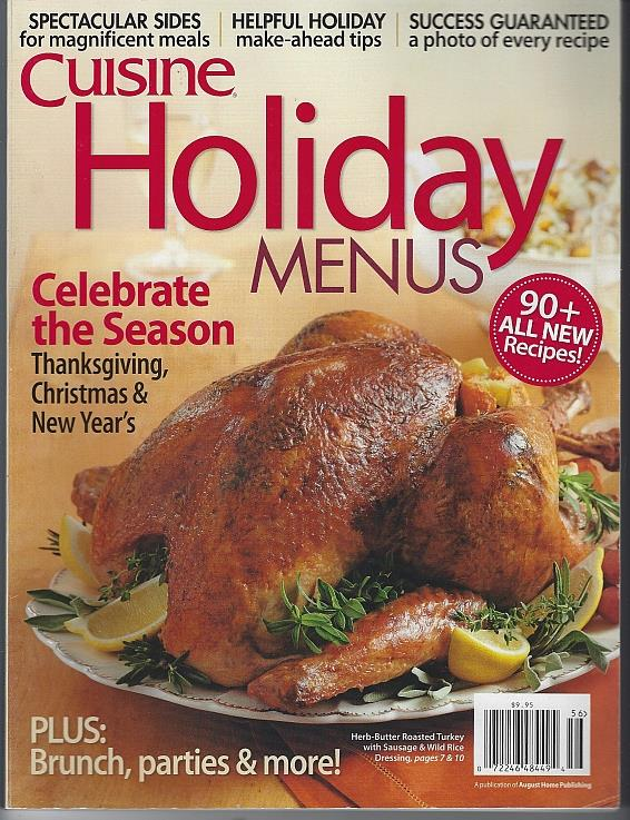 CUISINE HOLIDAY MENUS, Cuisine At Home