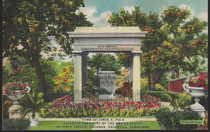 TOMB OF JAMES K. POLK, NASHVILLE, TENNESSEE, Postcard