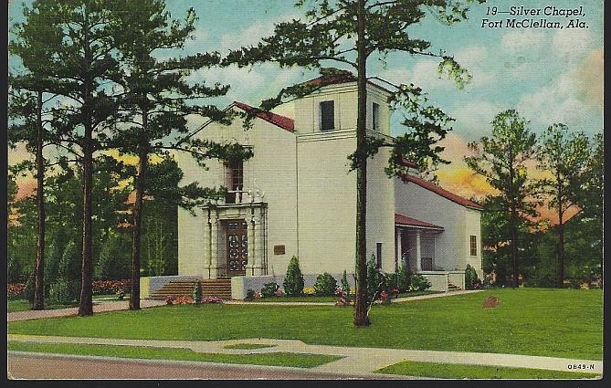 SILVER CHAPEL, FORT MCCLELLAN, ALABAMA, Postcard