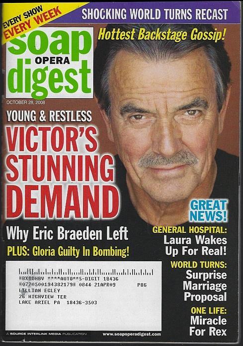 SOAP OPERA DIGEST OCTOBER 28, 2008, Soap Opera Digest