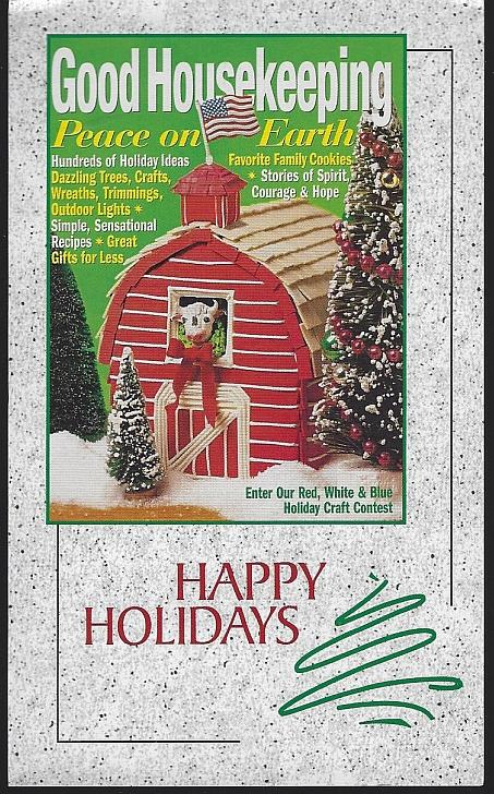 GOOD HOUSEKEEPING HAPPY HOLIDAYS SUBSCRIPTION POSTCARD, Postcard