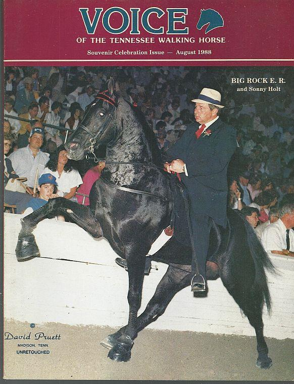 Image for VOICE OF THE TENNESSEE WALKING HORSE MAGAZINE AUGUST 1988 Souvenir Celebration Edition
